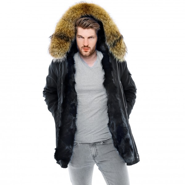 Fur Lined Mens Coat