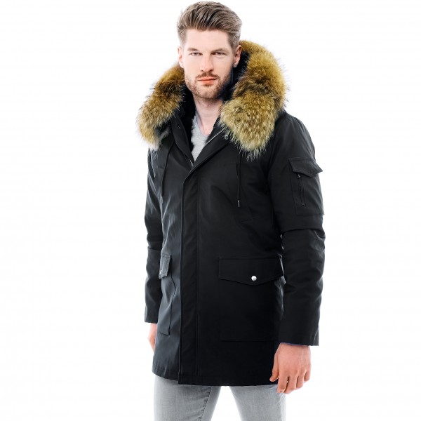 Mens Real Fur coat