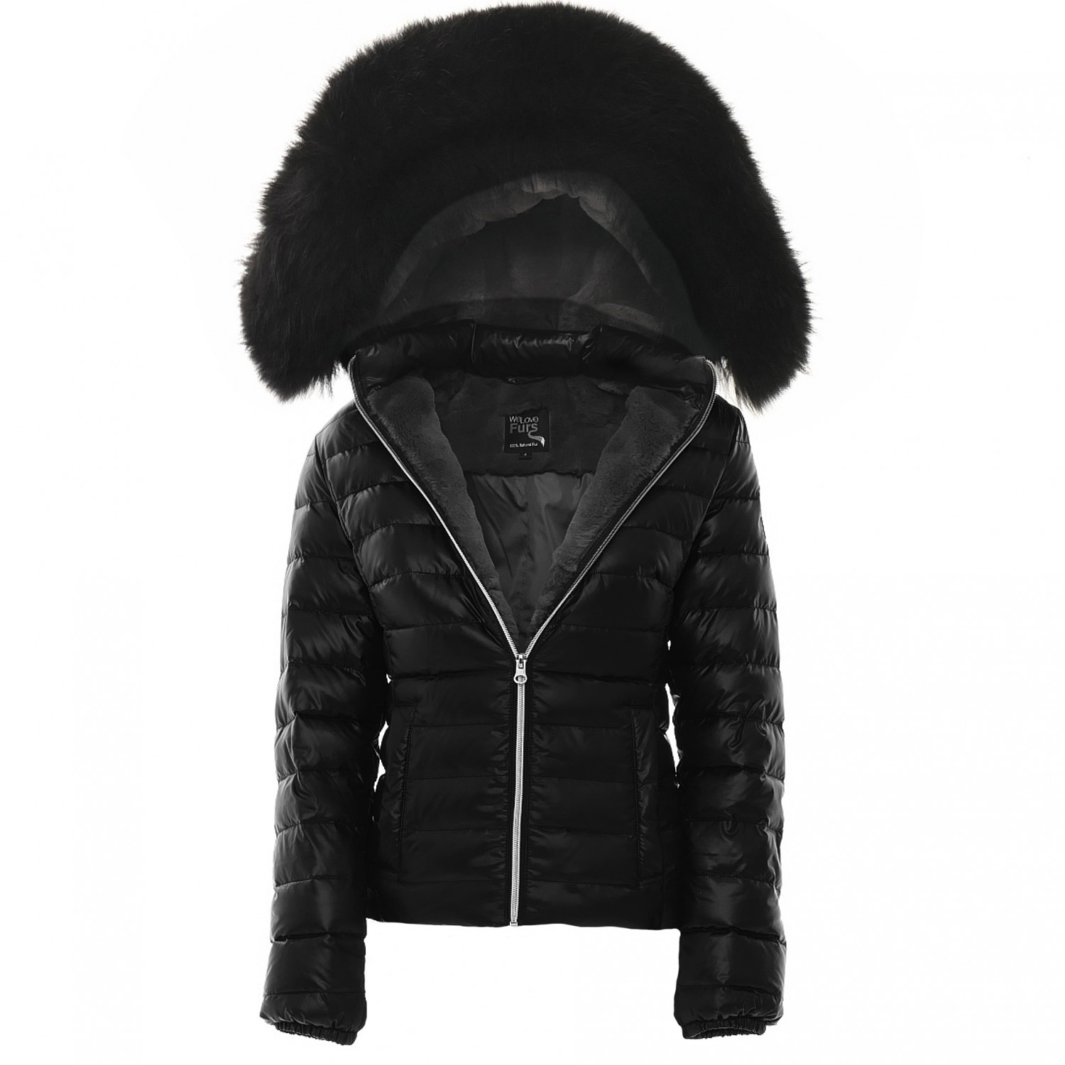 Furlined down jacket Majestic Black