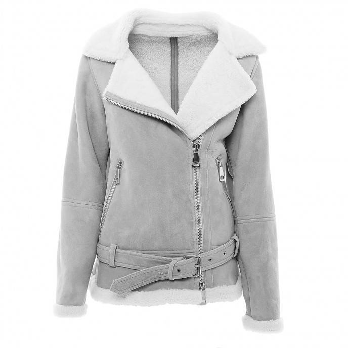 "Sheepskin Jacket ""PILOTA"" in grey"