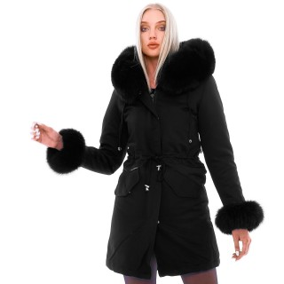 Avantgarda Coat with Fur Cuffs